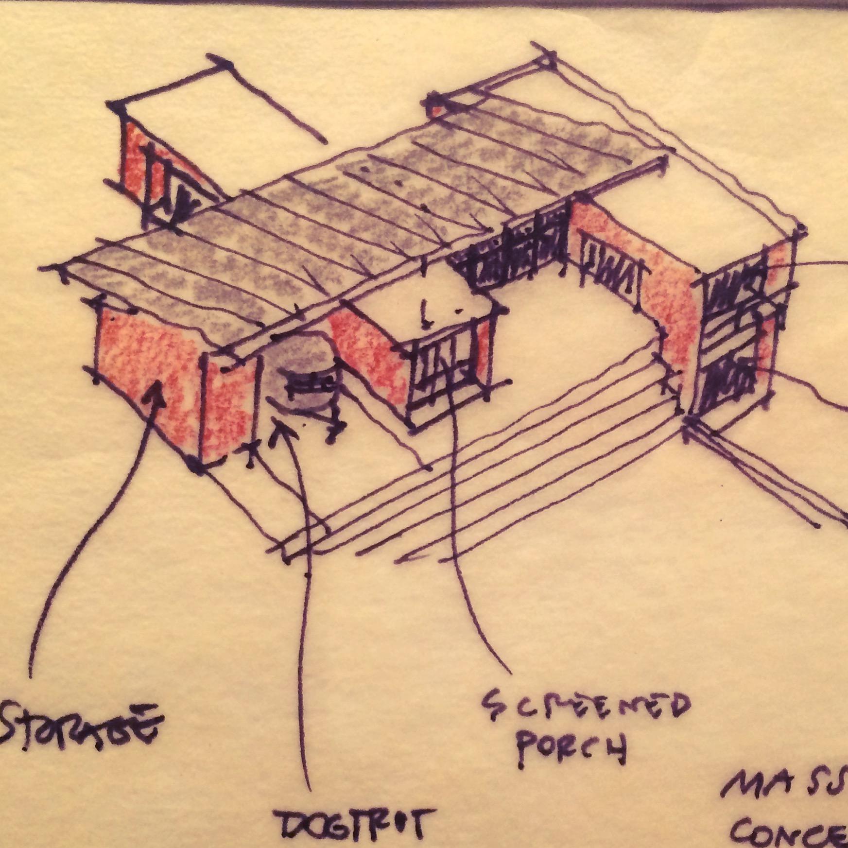 Copperwood - Concept Diagram Sketch (Parti)
