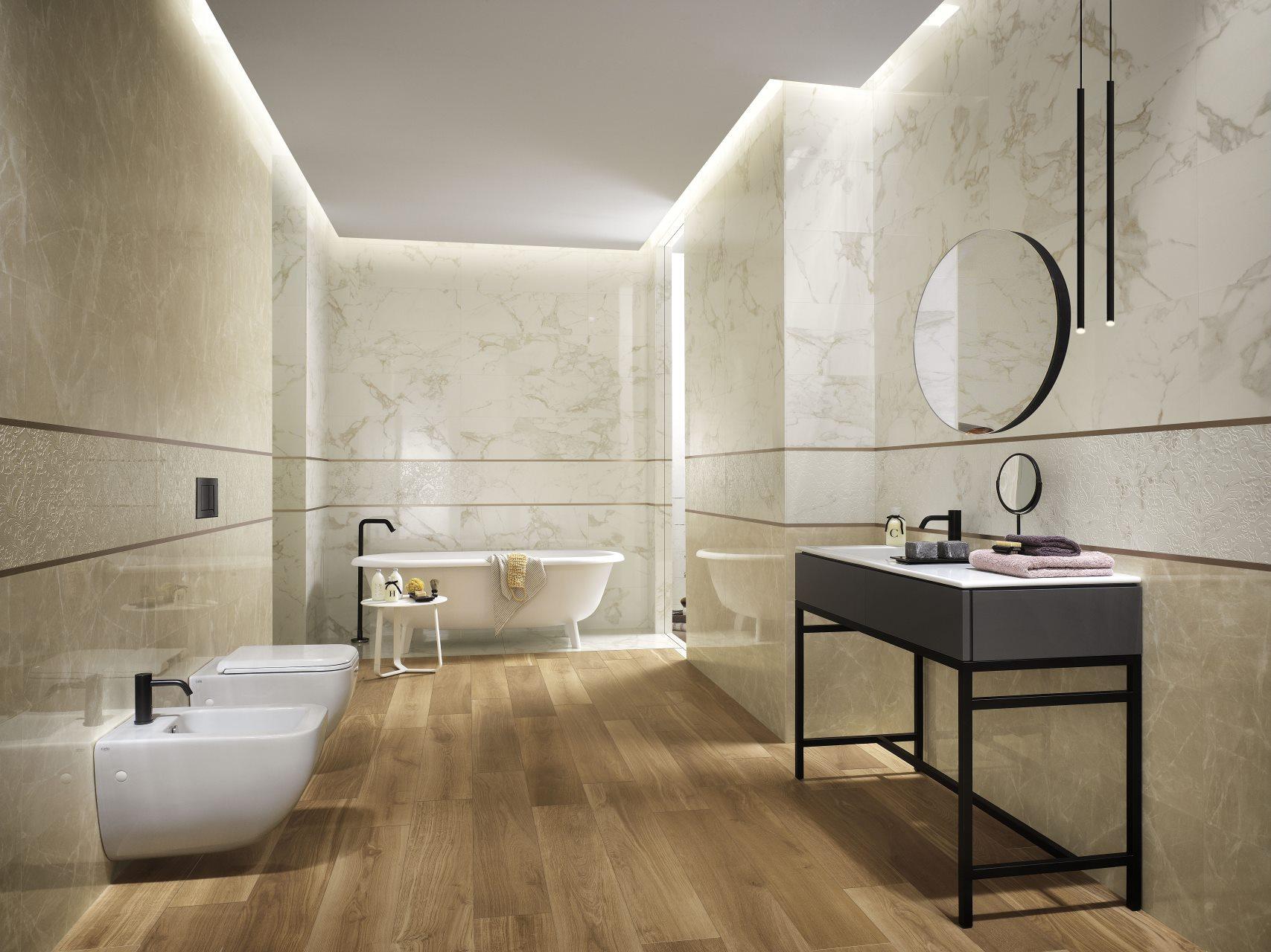 Roma classic una sofisticata interpretazione del marmo dall 39 eleganza contemporanea - Rivestimenti bagno roma ...