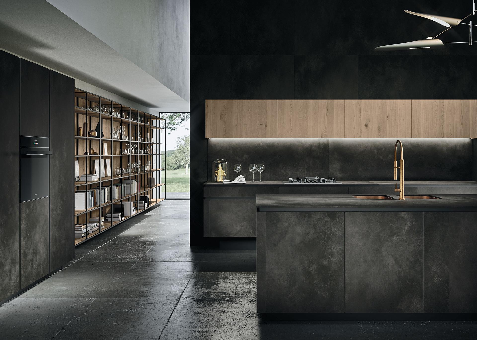 cucina-Way-dettaglio-ceramica-ossido-nero-1