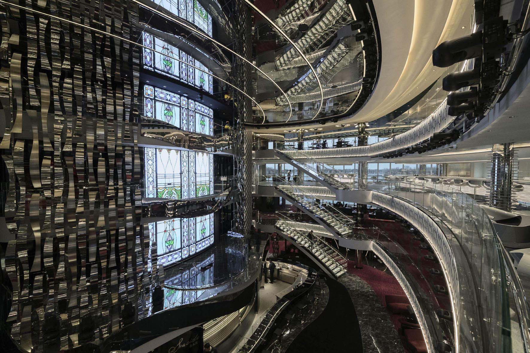 MSC Seaside - The stunning atrium at the heart of the ship acts as the social hub